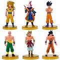 BOHS Anime manga 50 Generación Siete Decoración Dragonball Dragon Ball Figuras de Acción de Dibujos Animados Juguetes Muñeca 6 unids/set