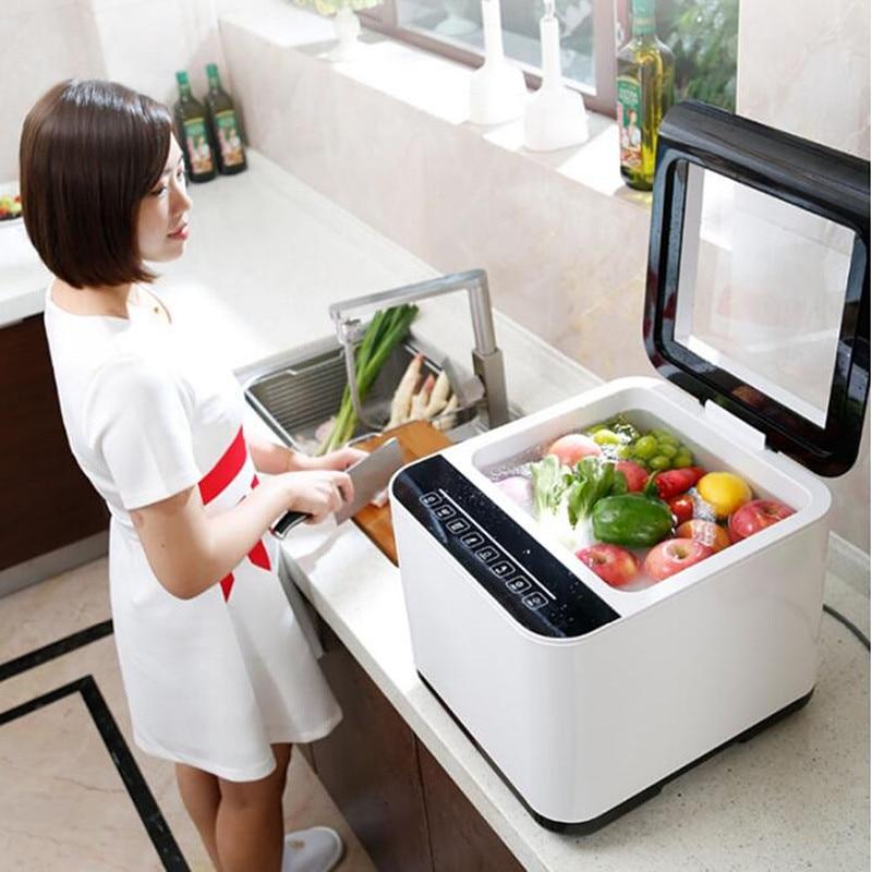 220V Vegetable & Fruit & Meat Washing Machine Food Visinfection Detoxification Machine Automatic Food Purifier EU/AU/UK/US Plug