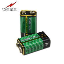 2x Wama 6F22 Battery 9V Primary Zinc Carbon Batteries for Alarm Wireless Microphones 1604D No Mercury New