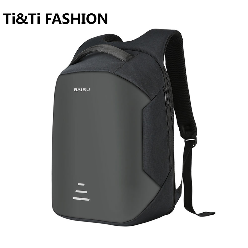 2017 Men's Classic Urban Backpacks Fashion Waterproof Travel Anti-theft Laptop Backpack For 16 Inch External USB Charge Backpack