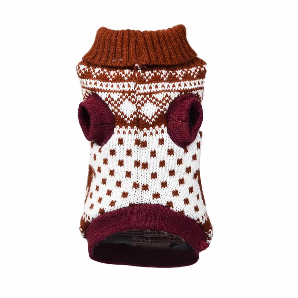Camisola do cão para o outono inverno quente tricô crochê roupas para o cão chihuahua dachsh clássico roupas do cão transporte da gota #820