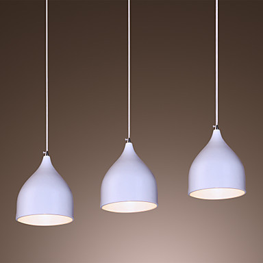 Luminarias Handing LED Modern Pendant Light Lamp with 3 Lights In White Shade Free Shipping