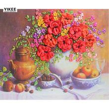 Yikee Алмазная вышивка цветы и фрукты Стразы картины Вышивка