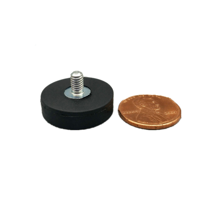 Magnetic Disc Rubber Coated Dia. 22 mm LED Light Holding Spotlight Holder Car Mending NdFeB Strong Neodymium Magnet 10pcs/lot