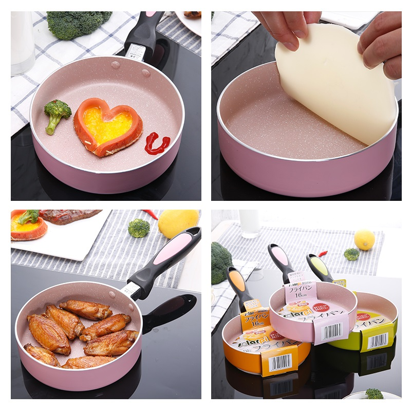 Non-stick Copper Frying Pan Japanese 16 cm small frying pan Ceramic Coating and Induction cooking,Oven & Dishwasher safe 16-25cm