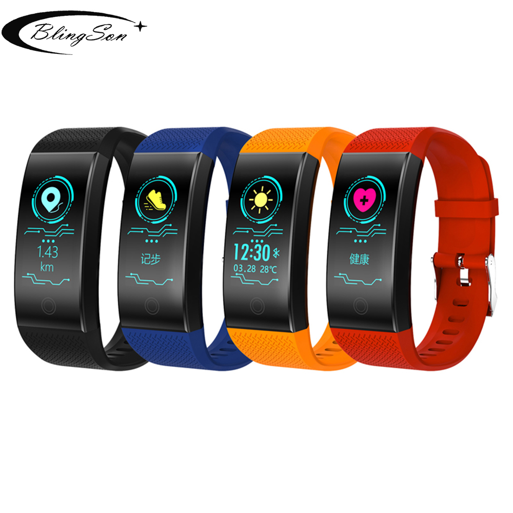 0815b6038a27 QW18 Smart Watch Sports Fitness Activity Heart Rate Tracker Blood Pressure  Smart Bracelets Support WhatsApp/ Facebook/ Twitter
