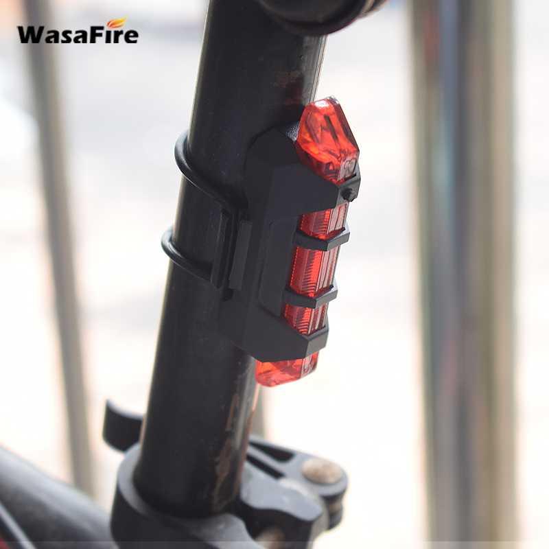 WasaFire Новый Перезаряжаемый USB светодиодный задний фонарь для велосипеда задний фонарь MTB безопасный предупреждающий велосипедный передний ...