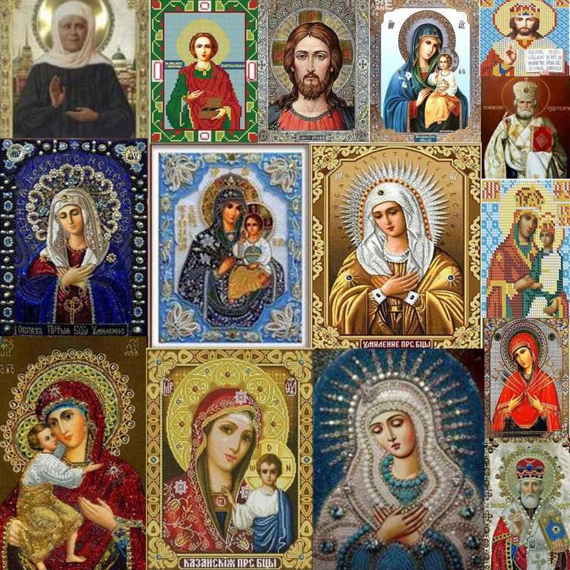 Mosaic 5d Diy Diamond Painting Home Decoration Religious Icon Diamond Embroidery Classic Style