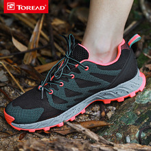 TOREAD 2017 Spring New Outdoor Lovers Shoes Light Anti-skid Men Sneakers Breathable Wear-resistant Women Sport Shoes KFAF81312
