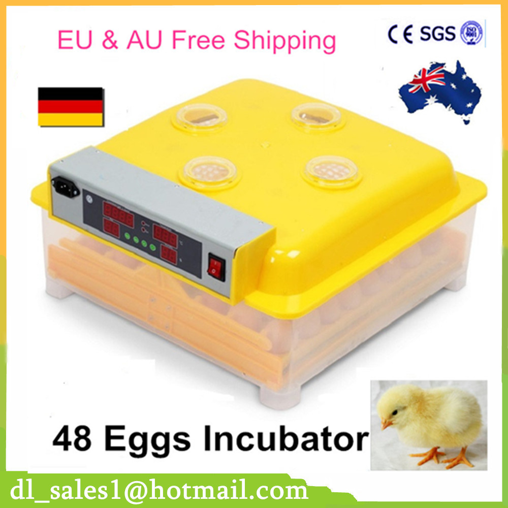 High quality 48 Eggs Incubator Plastic Digital Chicken Temperature Control Automatic Incubator Turning Hatcher Incubation Tools high quality digital temperature