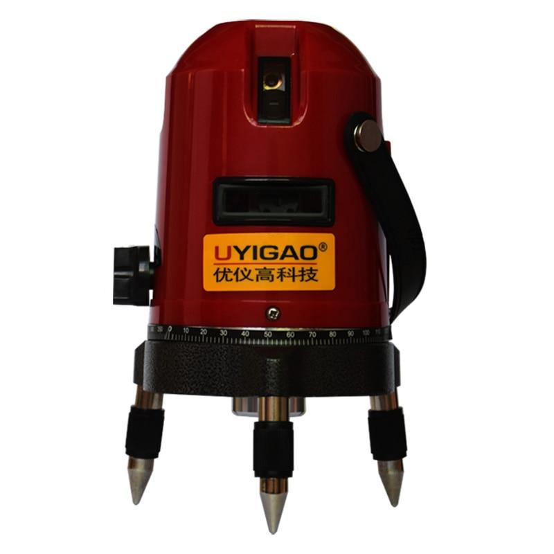 UYIGAO UA603 3 line Rotary Laser Beam Self Leveling Interior Exterior horizontal Laser Tripod Rotary Laser (3 Line) renfert mt 3 ua купить