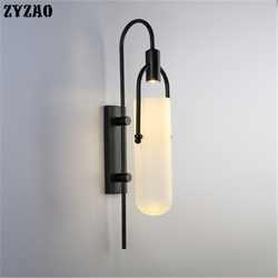 Postmodernistyczna minimalistyczna kreatywna ściana lampa Led lampki nocne do sypialni korytarz salon dekoracja projektant prosty na ścianę światło