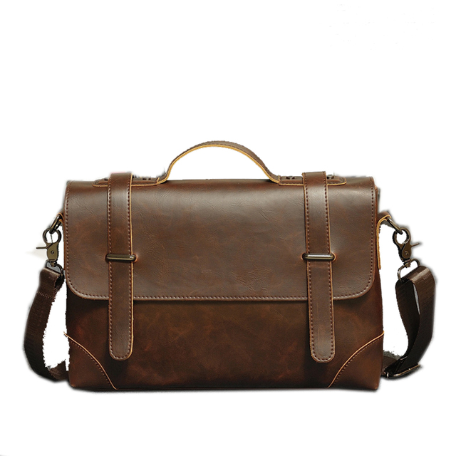 Aliexpress.com : Buy 2016 New Leather Men Messenger Bags Male ...