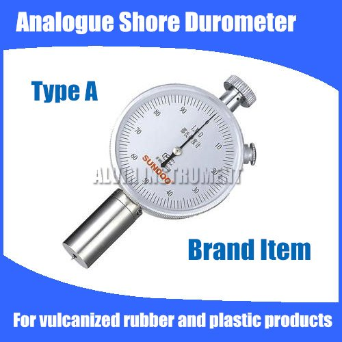 Free shipping Analogue Shore Hardness Tester Meter Rubber shore Durometer Type A  For vulcanized rubber and plastic products single needle shore c durometer hardness tester lx c 1 sclerometer