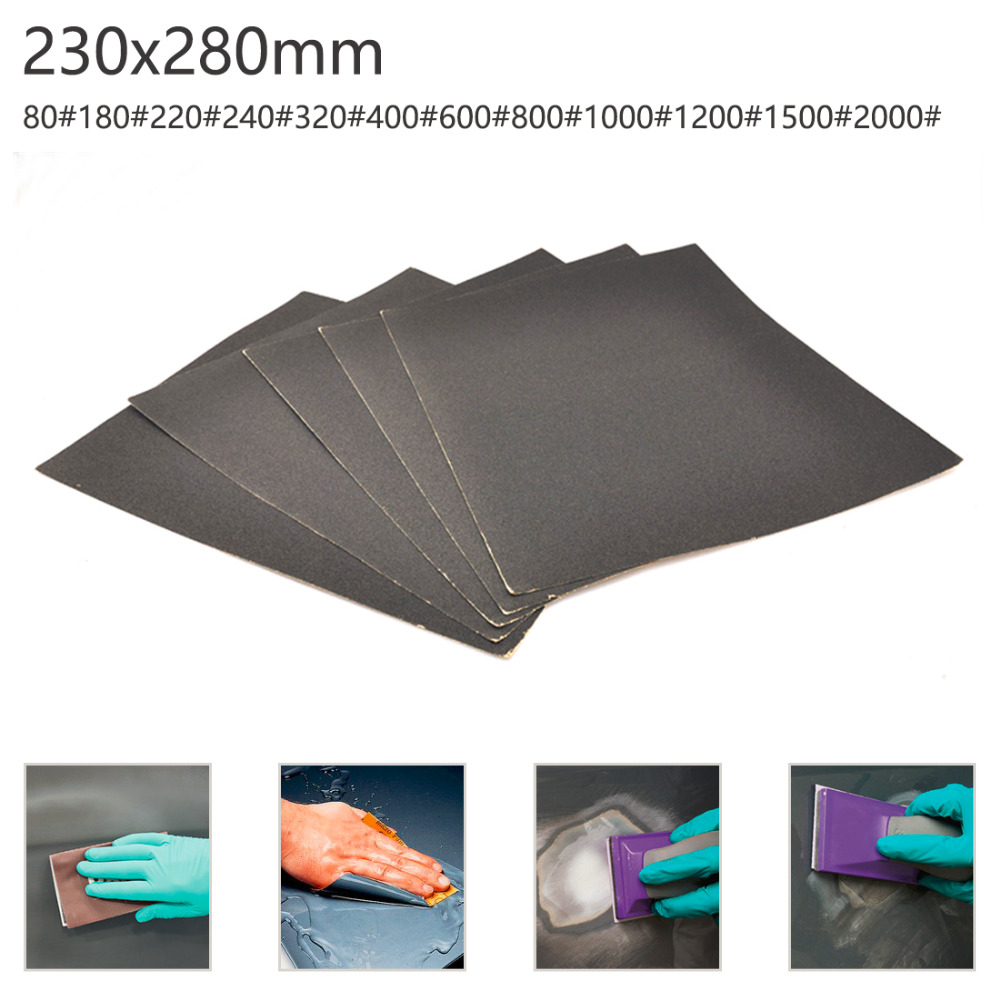 80-2000 Grits Sheet Surface Finish Abrasive Paper Sandpaper Grind Wet Dry Tool Sand Wood Furniture Turning Polish Buffing