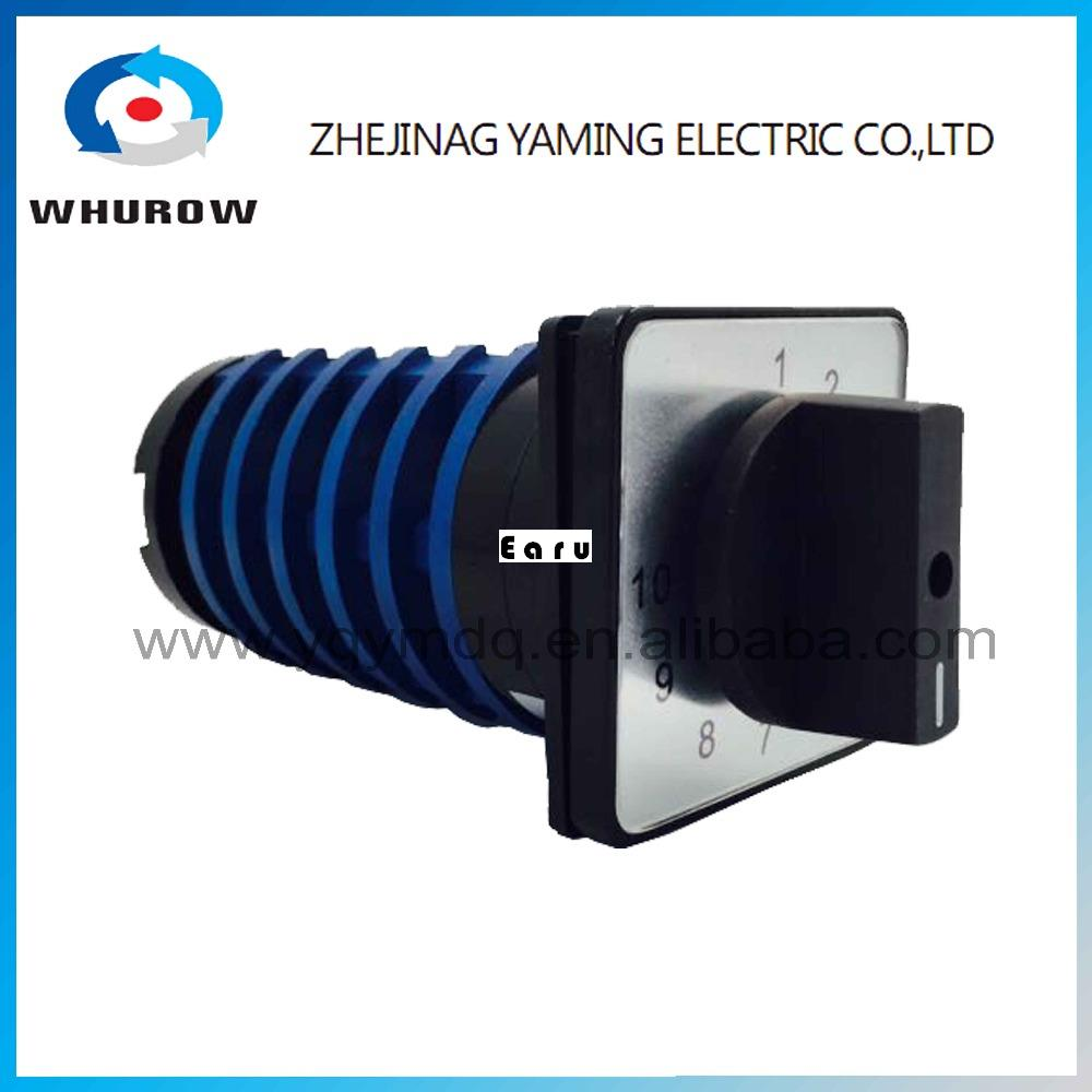 цена на Welding machine switch KDHC-32/6*10 CO2 gas High voltage electrical changeover rotary switch 32A 6 poles 10 positions
