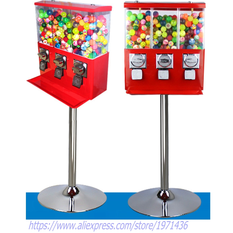 Free Shipping Coin Operated Gumball Capsule Toy Vending Game Machine