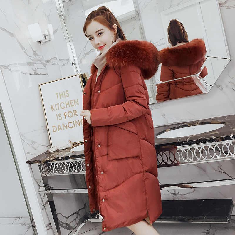 ฤดูหนาวหนาอบอุ่นผู้หญิงแจ็คเก็ตมีฮู้ด Outerwear พลัสขนาด M-3XL หลวม Parkes ลงผ้าฝ้ายเสื้อสีทึบหญิงสบายๆแจ็คเก็ต