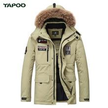 Tapoo Mens Daunenjacke Polyester Winter Jacken Dicken 80% Weiße Ente Unten Beiläufige Oberbekleidung Winddicht Hübschen Plus Größe M-3XL