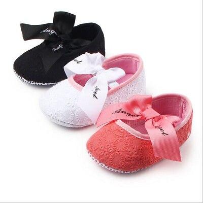 Princess Newborn Baby Girls Infant Bowknot Floral Embroidery Soft Sole Crib Shoes Kids Infantil Anti-slip Mocassins Prewalker