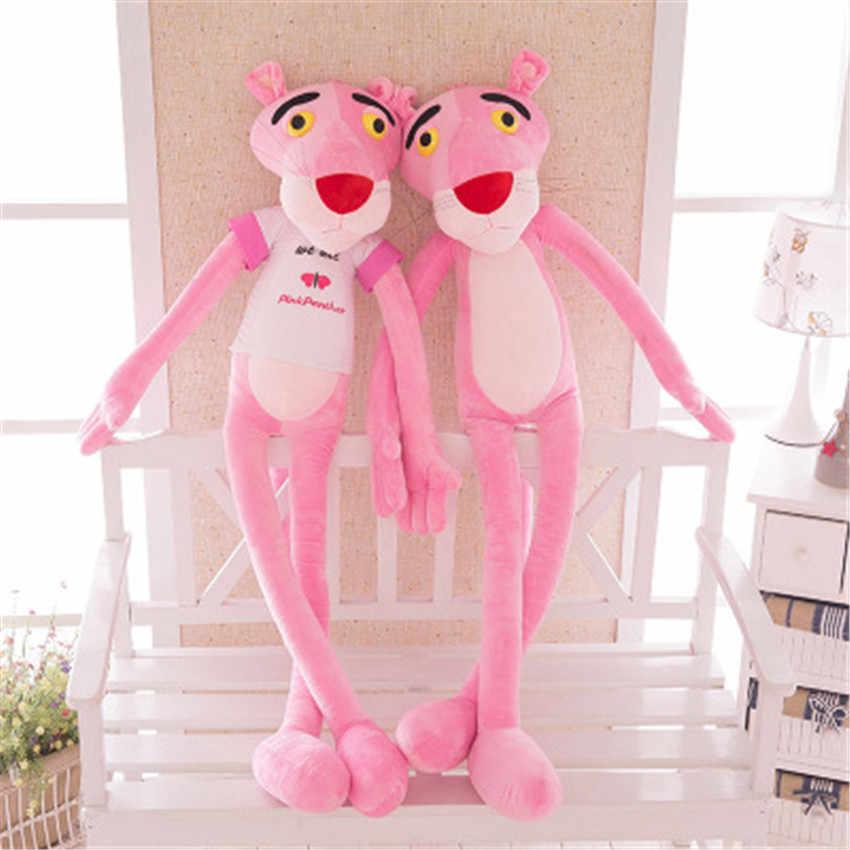 New Pink Panther Plush Toys Boneca de Pelúcia Brinquedo Macio Rosa Leopardo Presente Kawaii para Crianças com Roupas Brithdays Presentes Do Partido 100 CENTÍMETROS