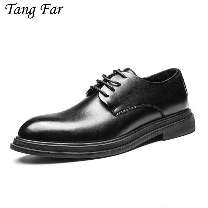 Men Classic Formal Shoes Italian Brand Plus Size 46 45 Male oxfords Mens Oxford Shoes Black