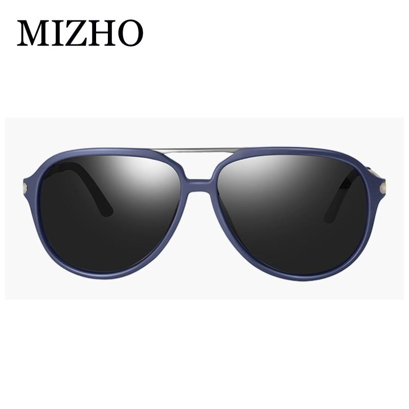 US $4.9 50% OFF|MIZHO Fashion Guy's Pilot Polarized Sunglasses Men Classic Design Black Metal spring leg Sunglass Women Goggle UV400|Men's Sunglasses|
