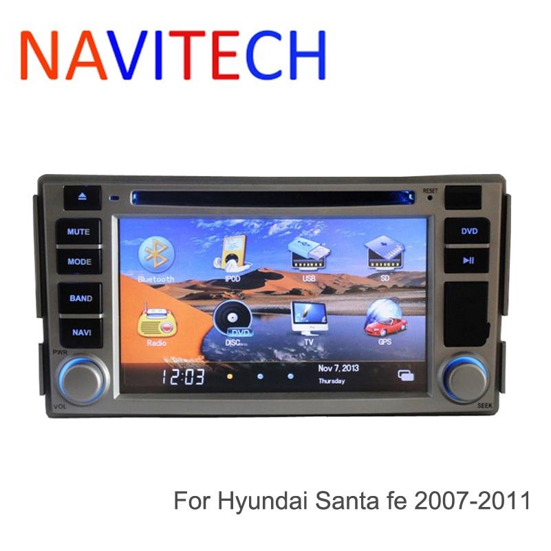 2010 Santa Fe Hyundai: Car Dvd For Hyundai Santa Fe 2007 2008 2009 2010 2011 GPS