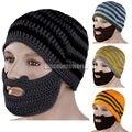 New Unique Winter Mens Womens Knit Face Warmer Beard Moustache Wool Hat Cap 4 Color A2