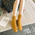 2017 Harajuku Estilo Japonés Casual Calcetines de Colores para Las Mujeres Niñas Calcetines Meias Chaussette