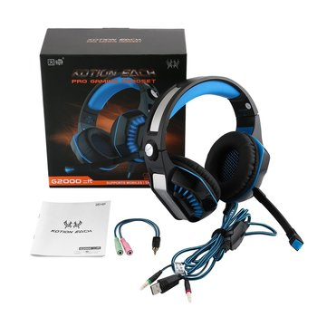GM-2 Gaming Headset with Mic-Sound Clarity Noise Reduction Headphone with LED Lights for Computer Game With Y Splitter
