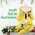 2016 New Baby Boy Meninas Roupas Define Newborn Bebes Minnie Outono Casaco + Camiseta + Calça 3 Pcs Crianças dos miúdos Conjunto de Roupas da Menina da criança