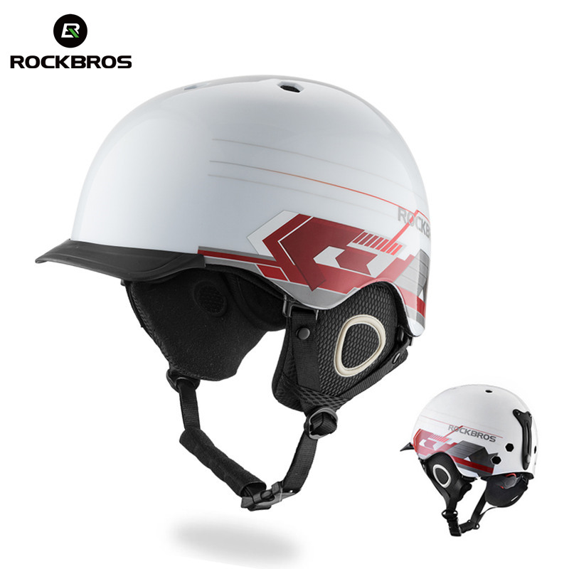 ROCKBROS Ultralight Integrally-molded Ski Helmet Professional Adult Sports Helmets Snowboard Women Men Skateboard Safety Helmets цена