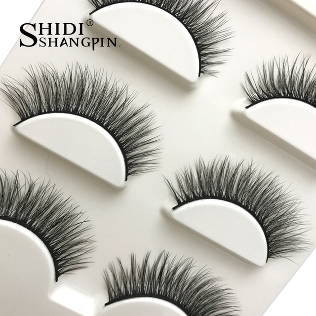 New 3 pairs natural false eyelashes fake lashes long makeup 3d mink lashes extension eyelash mink eyelashes for beauty #X11 6
