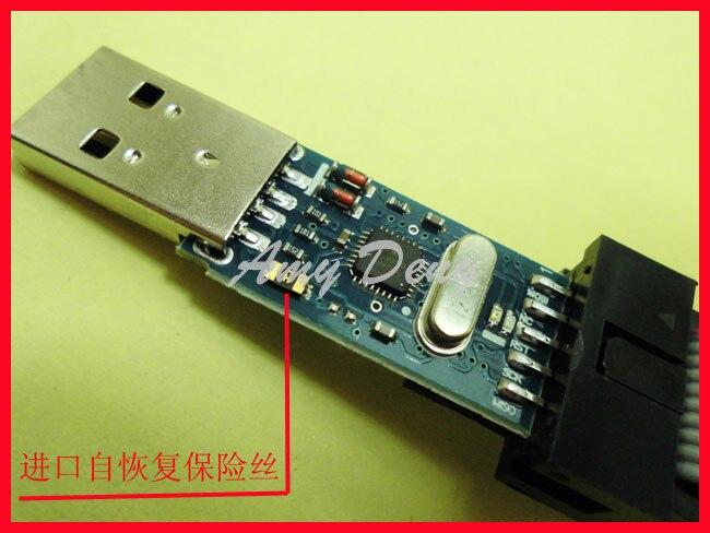 Новый Диск-Бесплатная USB ASP программы Downloader ISP линии 51 и avr с корпусом короткого замыкания программист
