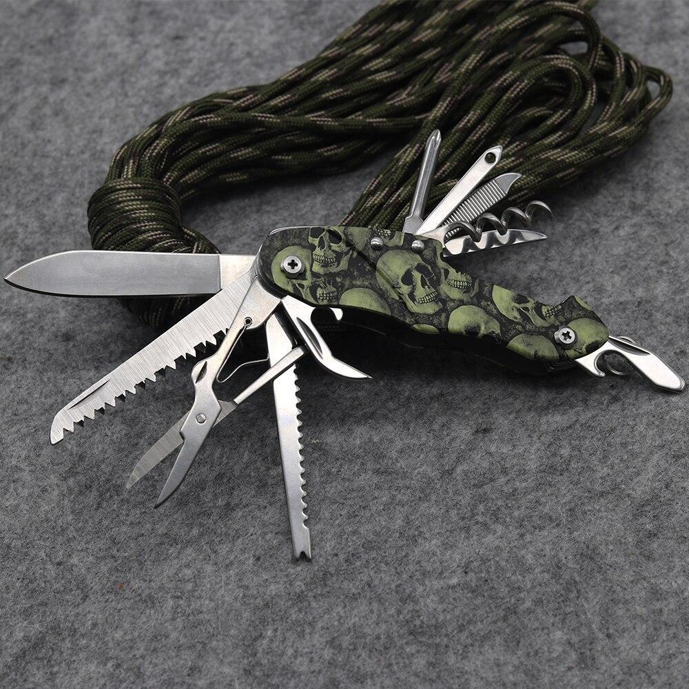 Nouvelle Qualité En Acier Inoxydable 11 dans 1 Outil Multi de Poche Pliant Couteau Multi Camping En Plein Air Survie Couteaux EDC Outils