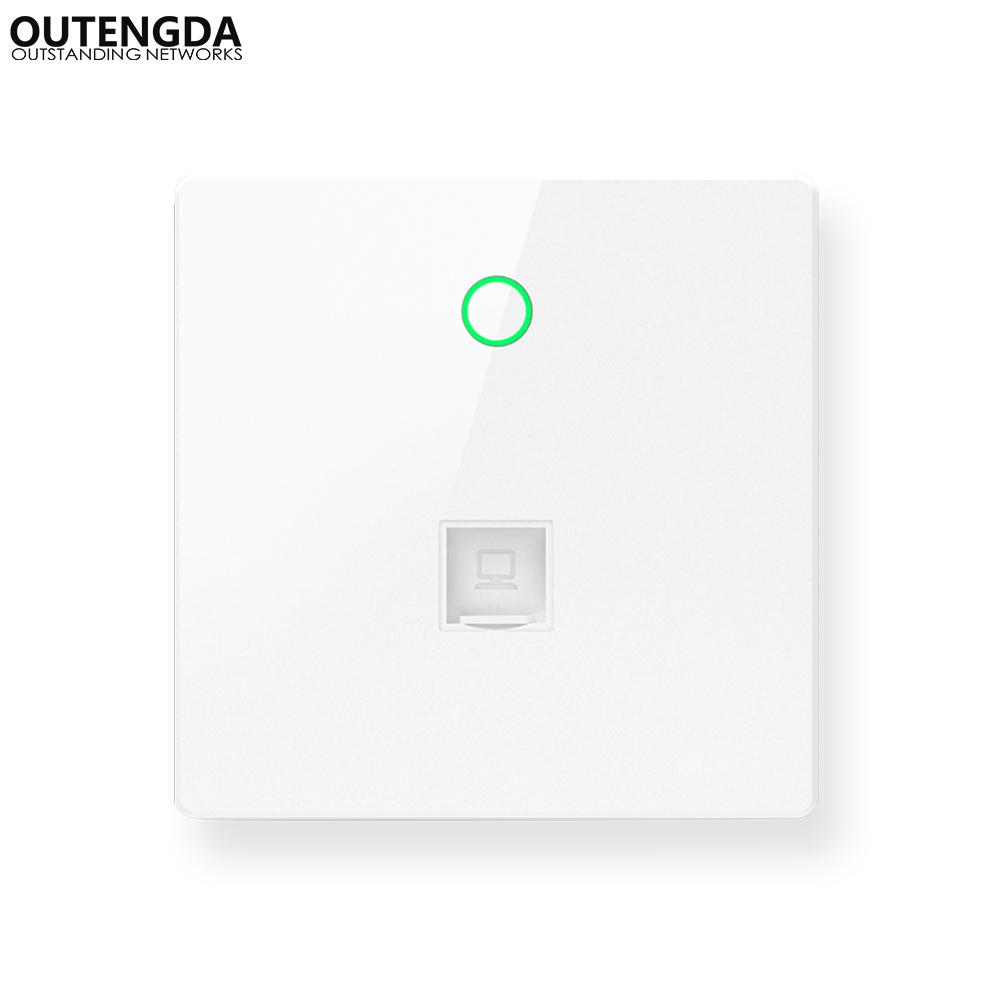 300Mbps Indoor 86 Wall Socket WiFi In Wall Access Point Wireless AP WAN LAN RJ 45 Port Repeater Router