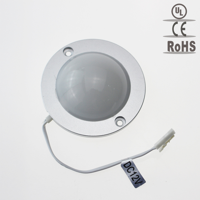 Smd3528 1 7w Led Spotlight 12v Round Under Cabinet Light Furniture Showcase Downlight Warm Cold