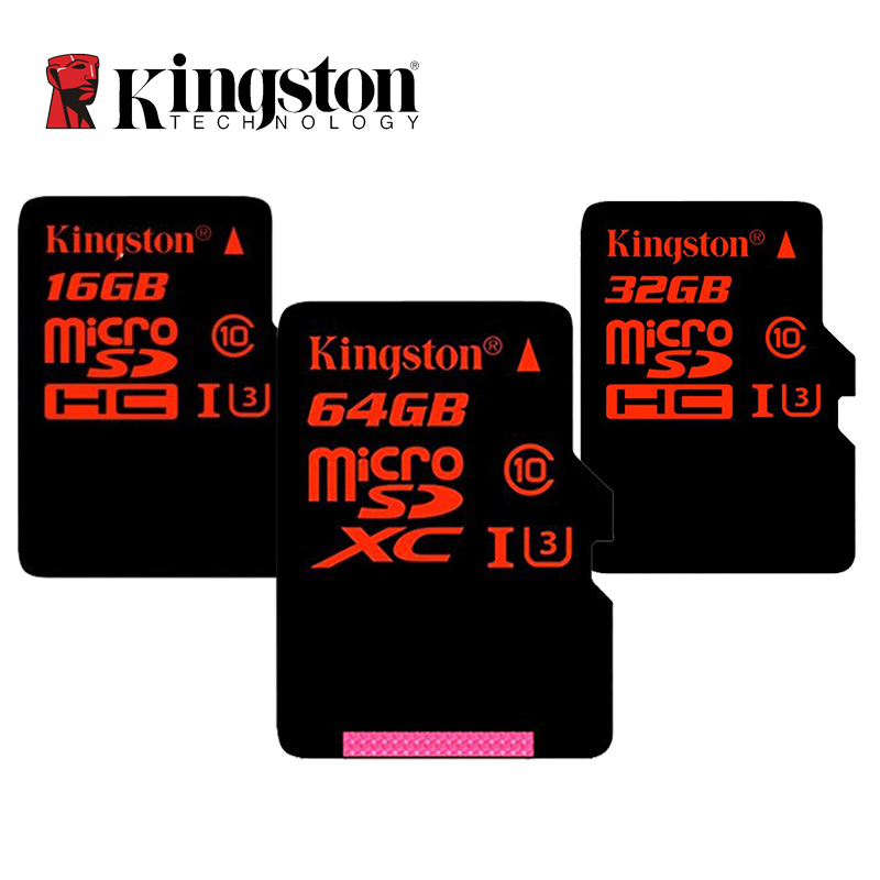 Prix pour Kingston Carte Micro Sd C10 32 GB 64 GB Classe 10 SDHC SDXC UHS-I U3 Mémoire Cartes HD 3D 4 K Vidéo Carte Microsd Pour Téléphone Portable Tablet