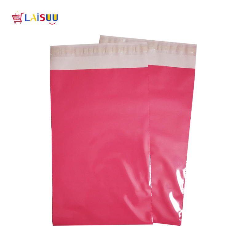 10pcs 6.5 X 10 Inch/17 X 26cm Pink Poly Mailer Envelopes Shipping Bags With Self Adhesive,  Tear-Proof Postal Bags