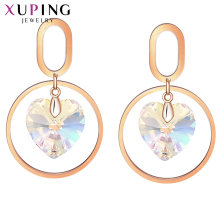 Xuping Love Gift Unique Design Heart Earrings for Women Crystals from Swarovski Elegant Jewelry Party  Gifts S150-20558