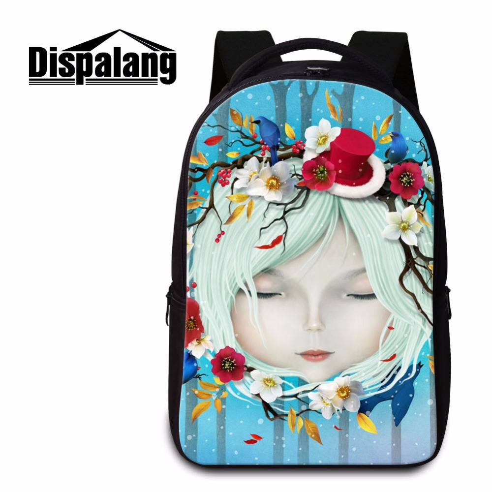 Dispalang Stylish School Backpack Pattern for College Girls Computer Laptop Back Pack High Class Students Cartoon Travel Bookbag cute animal print computer backpacks dog laptop back pack for 14 inch boys cat school bookbag college girls mochila book bag