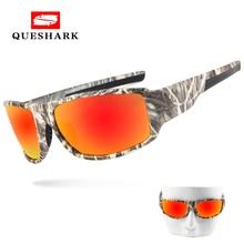 Queshark Camo Polarized Fishing Sunglasses Uv400 Cycling Driving Goggles Camouflage Hiking Camping Glasses Sports Eyewear