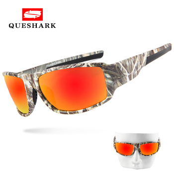 179620f177 Queshark Camo polarizadas pesca gafas de sol Uv400 de ciclismo gafas  camuflaje senderismo Camping gafas deportivas