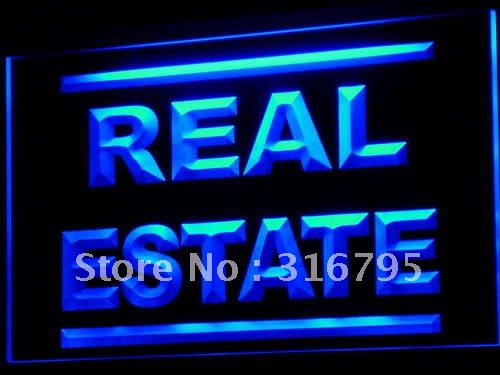 i610 Real Estate Rent Lease Agent LED Neon Light Sign On/Off Switch 20+ Colors 5 Sizes ...