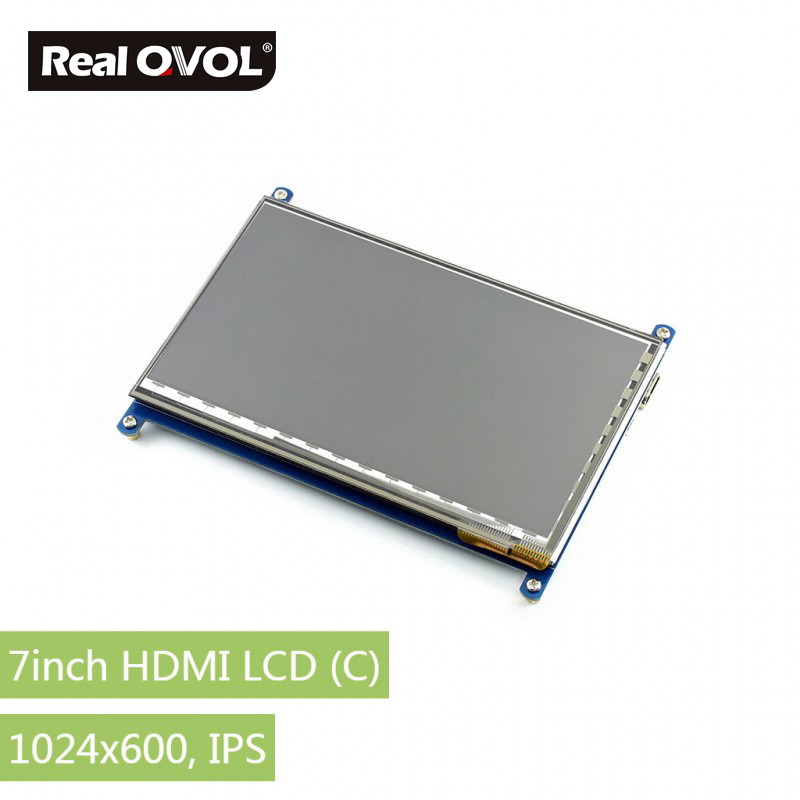 RealQvol 7inch HDMI LCD (C) Capacitive Touch Screen LCD, HDMI interface, supports various systems Raspberry Pi Banana Pi modules micro pc 7inch hdmi lcd c raspberry pi 1024 600 capacitive touch screen display supports bb black&banana pi pro various