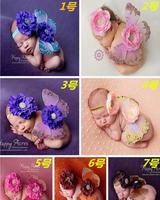 European newborn headbands with clothing infant photography studio photographing photography props butterfly wings wrap clothes