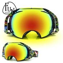 New brand professional ski goggles double lens anti-fog UV400 big ski glasses skiing snowboard men women snow goggles 160323cz05