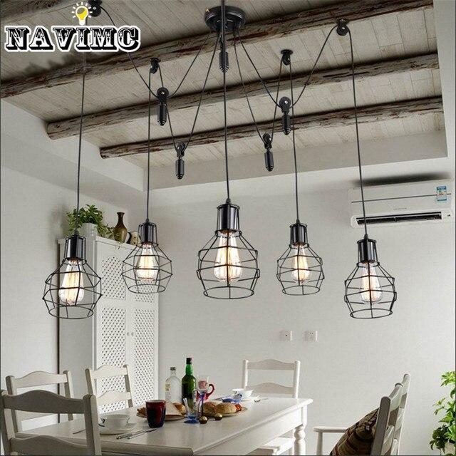 Nordic Industriële Katrol Hanglampen Minimalistische Restaurant ...