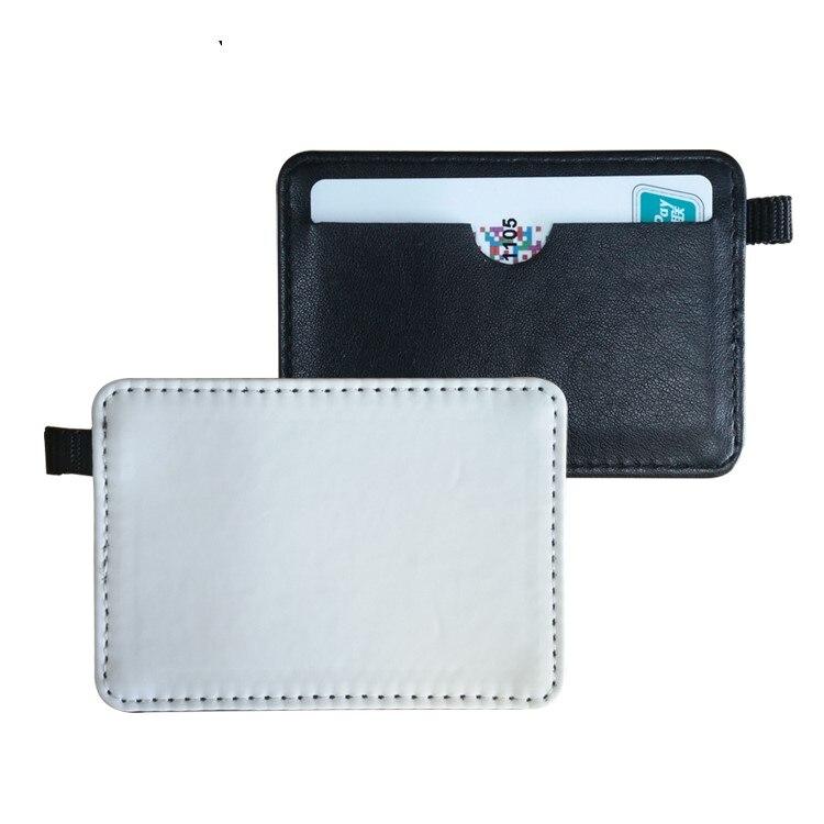 10 pcs/lot support de sac de carte en cuir de Sublimation vierge pour l'impression de transfert à chaud en cuir consommables vierges bricolage 7x11 cm